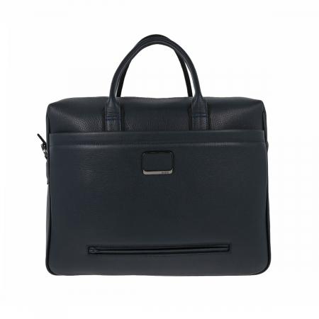 Geanta pentru laptop, tableta si acte din piele bleumarin, marca The Bond, model 1084 [3]