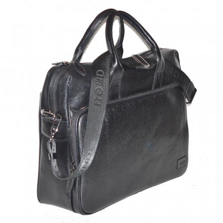 Geanta pentru laptop, tableta si acte din piele neagra, marca The Bond, model 1084 [0]