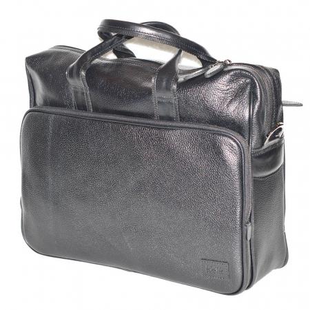Geanta pentru laptop, tableta si acte din piele neagra, marca The Bond, model 1084 [1]