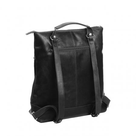 Geanta/rucsac pentru laptop de 14 inch, The Chesterfield Brand, din piele naturala, model Chelsea, Negru [6]