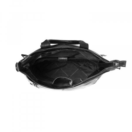 Geanta/rucsac pentru laptop, The Chesterfield Brand, din piele neagra, model Nuri [5]