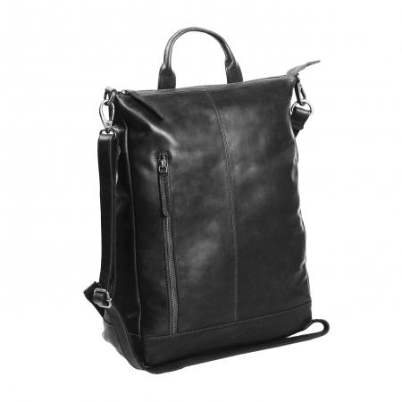 Geanta/rucsac pentru laptop, The Chesterfield Brand, din piele neagra, model Nuri [1]