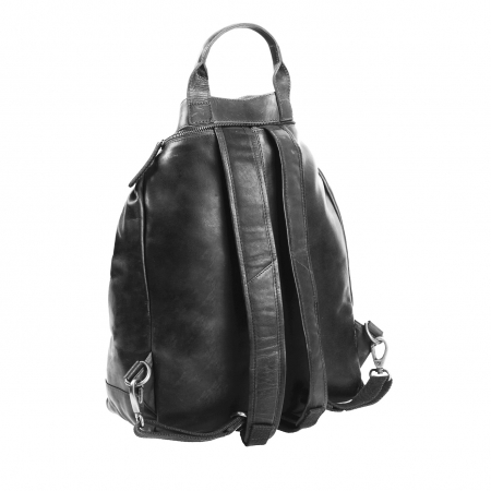 Geanta/rucsac pentru laptop, The Chesterfield Brand, din piele neagra, model Nuri [2]