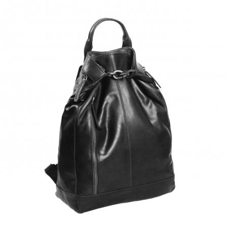 Geanta/rucsac pentru laptop, The Chesterfield Brand, din piele neagra, model Nuri [0]