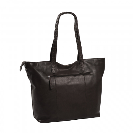Geanta shopper de dama din piele naturala, The Chesterfield Brand, Kansas, Maro inchis [2]