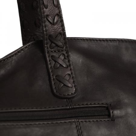 Geanta shopper de dama din piele naturala, The Chesterfield Brand, Kansas, Maro inchis [4]