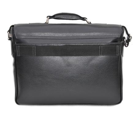 Geanta tip servieta pentru laptop de 14 inch, din piele naturala, model casual 41 negru [4]