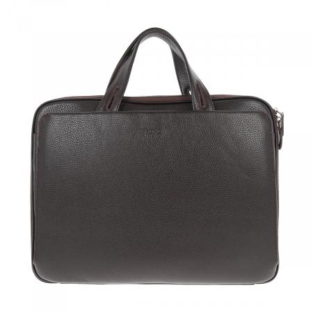 Geanta unisex pentru acte si laptop din piele naturala maro, model T1187 [3]