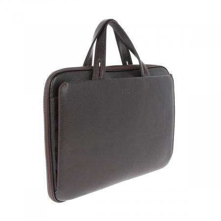 Geanta unisex pentru acte si laptop din piele naturala maro, model T1187 [0]