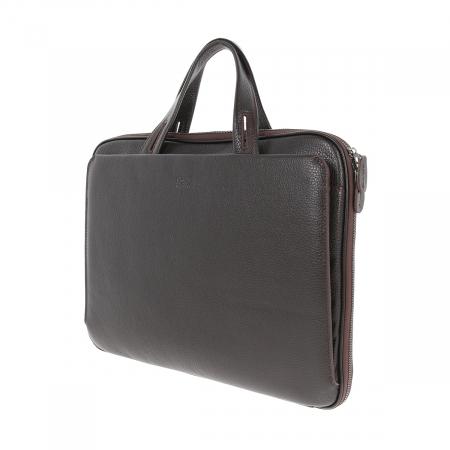 Geanta unisex pentru acte si laptop din piele naturala maro, model T1187 [4]