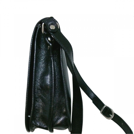 Gentuta unisex din piele naturala vachetta neagra S5552 [2]
