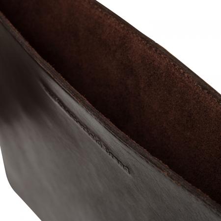 Husa pentru laptop din piele naturala, The Chesterfield Brand, Miami 15 inch, Maro inchis [2]