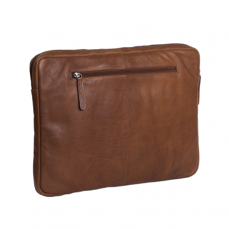 Mapa The Chesterfield Brand pentru acte si laptop, din piele naturala maro coniac, Glenn [4]