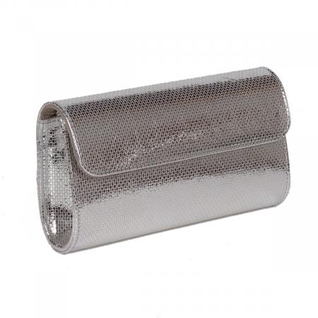 Plic argintiu fagure din piele naturala model 07 [0]