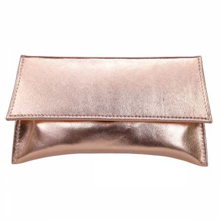 Plic auriu elegant din piele naturala, model trapez [1]