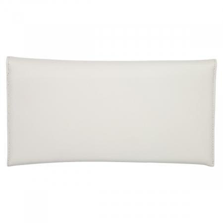 Plic de ocazie alb/ivory din piele naturala box [2]