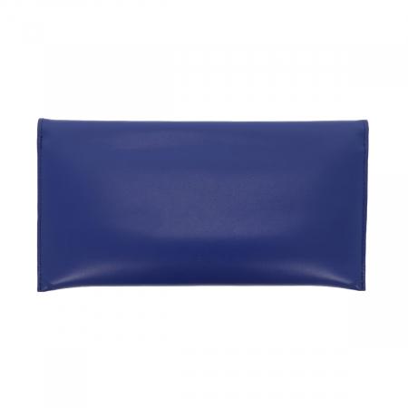 Plic de ocazie albastru imperial din piele naturala fina [2]