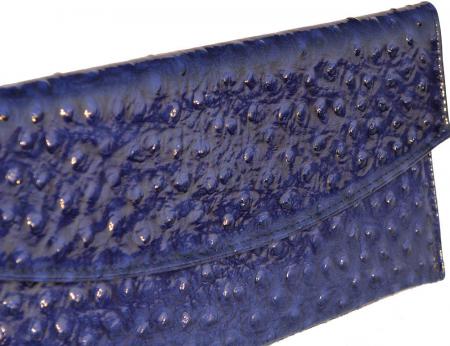 Plic de ocazie albastru imperial piele strut [1]