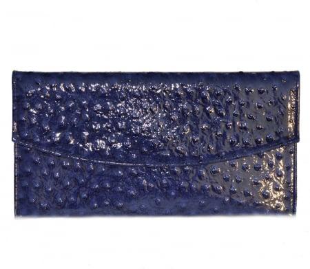 Plic de ocazie albastru imperial piele strut [0]