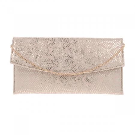 Plic de ocazie auriu roze din piele naturala [4]