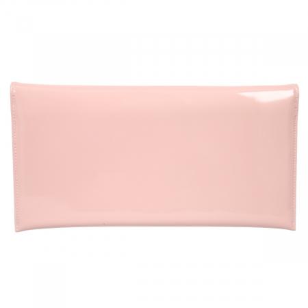 Plic de ocazie din piele lacuita roz pudra [2]
