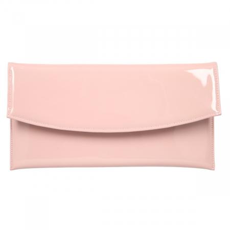 Plic de ocazie din piele lacuita roz pudra [1]