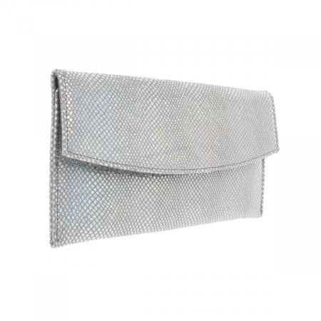 Plic de ocazie din piele naturala argintiu cameleon [1]