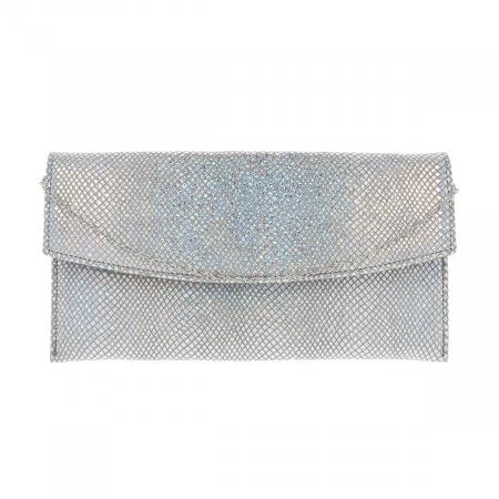 Plic de ocazie din piele naturala argintiu cameleon [4]