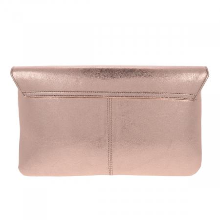 Plic de ocazie din piele naturala auriu roze [3]