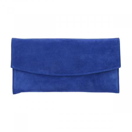 Plic de ocazie din piele naturala intoarsa albastru imperial [1]