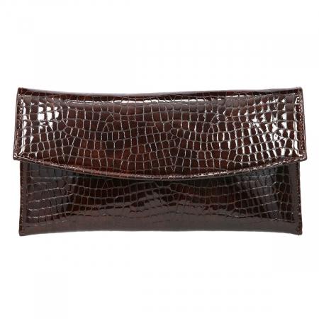 Plic de ocazie maro din piele croco lac [1]