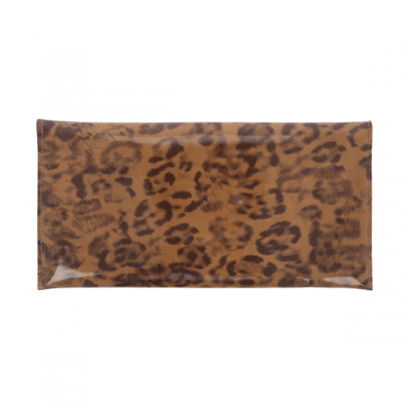 Plic de ocazie maro leopard din piele lacuita [2]