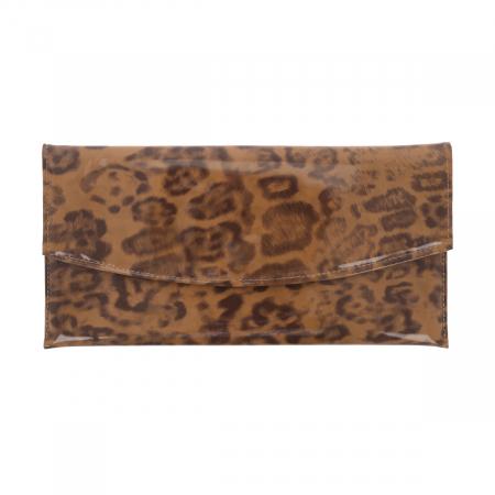 Plic de ocazie maro leopard din piele lacuita [1]