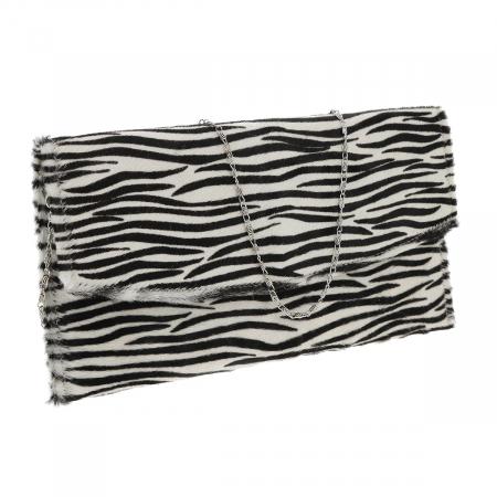 Plic de ocazie model new zebra din piele naturala cu par [0]
