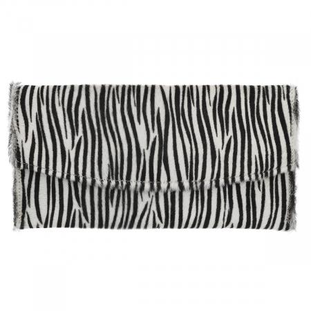 Plic de ocazie model zebra din piele naturala cu par [1]