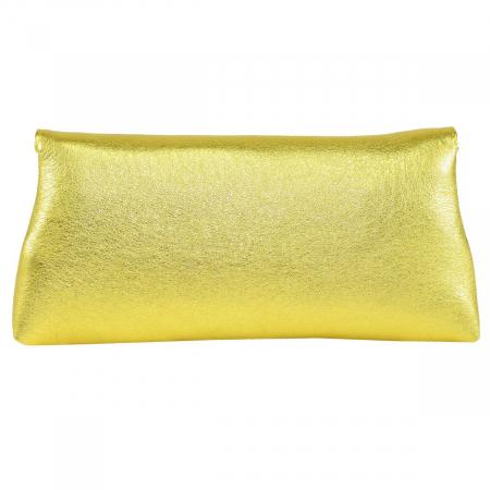 Plic din piele naturala auriu 114 [3]