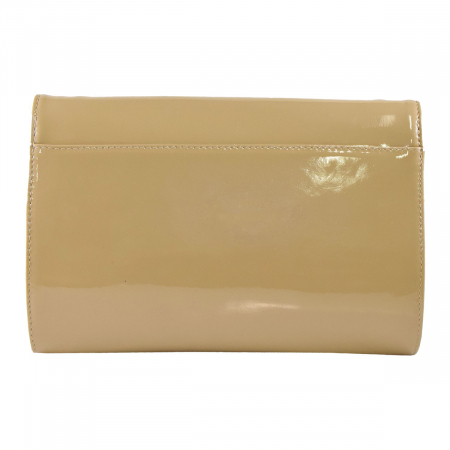 Plic din piele naturala lacuita nisipie 181 [3]