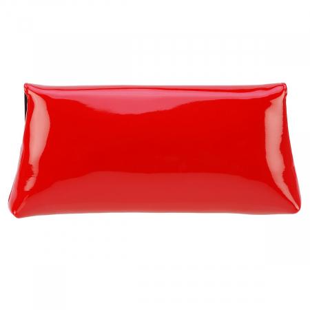 Plic din piele naturala lacuita rosie 114 [4]