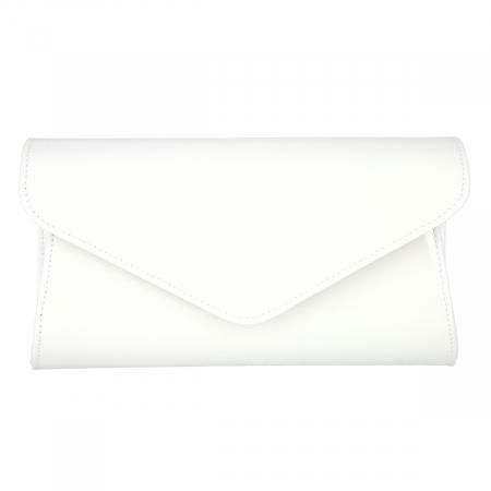 Plic elegant alb imaculat din piele lacuita, model 08 [1]
