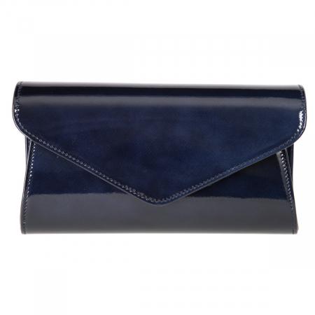 Plic elegant bleumarin inchis din piele saffiano lac, model 08 [1]