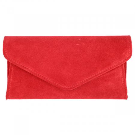 Plic elegant din piele intoarsa rosu clasic, model 08 [1]