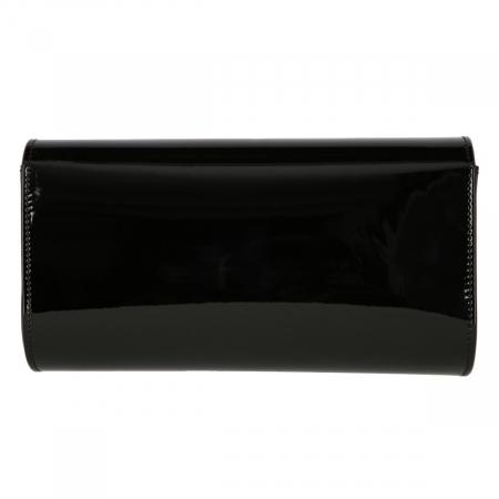 Plic elegant din piele lacuita neagra, model 08 [2]