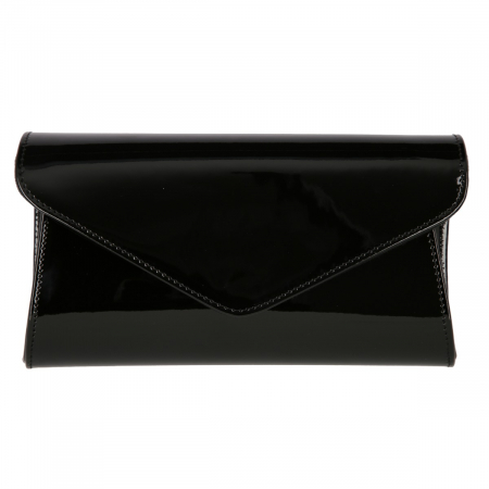 Plic elegant din piele lacuita neagra, model 08 [1]