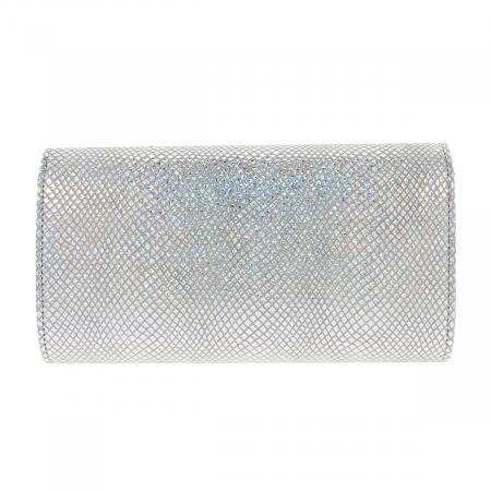 Plic elegant din piele naturala argintiu cameleon, model 08 [4]