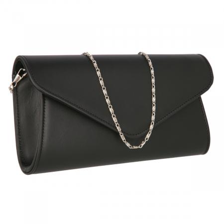 Plic elegant din piele naturala box negru, model 08 [0]