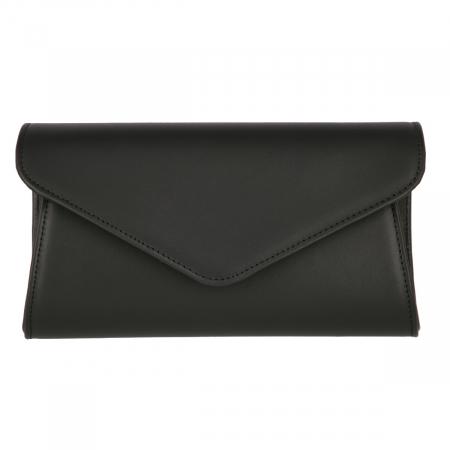 Plic elegant din piele naturala box negru, model 08 [1]