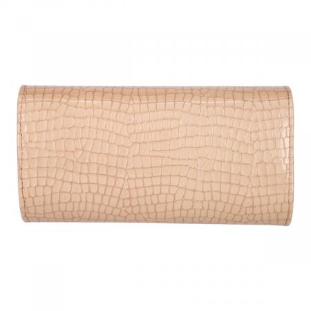 Plic elegant din piele naturala croco crem lac, model 08 [2]