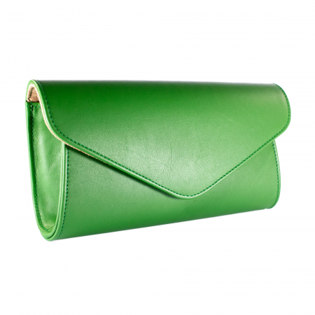 Plic elegant din piele naturala, model 08, Verde [0]