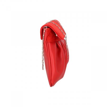 Plic elegant din piele naturala rosie, model 144 [3]