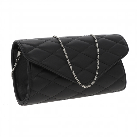 Plic elegant negru din piele naturala tip matlasat, model 08 [0]